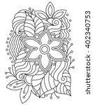 vector abstract hand drawn... | Shutterstock .eps vector #402340753