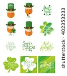 set of labels and backgrounds... | Shutterstock .eps vector #402353233