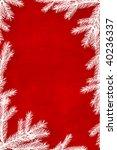 red christmas background framed ... | Shutterstock . vector #40236337