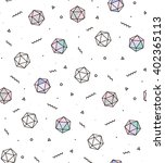 modern pattern with diamonds... | Shutterstock .eps vector #402365113