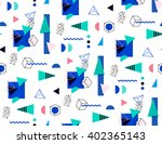 seamless geometric pattern in... | Shutterstock .eps vector #402365143