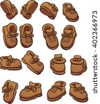 cartoon shoes in different... | Shutterstock .eps vector #402366973