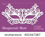 beautiful laser cut vector die... | Shutterstock .eps vector #402367387