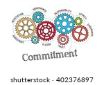 gears and commitment mechanism | Shutterstock .eps vector #402376897