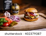 homemade burger | Shutterstock . vector #402379387