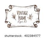 vintage old frame  the paper... | Shutterstock .eps vector #402384577