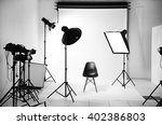 empty photo studio with... | Shutterstock . vector #402386803