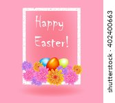 easter greetings in a white... | Shutterstock . vector #402400663