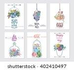 vector succulent frame. ideal... | Shutterstock .eps vector #402410497