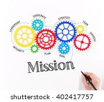 business gears and mission... | Shutterstock . vector #402417757
