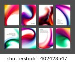 set of templates with... | Shutterstock .eps vector #402423547
