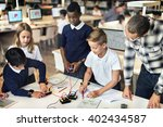 education school student... | Shutterstock . vector #402434587