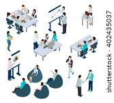 coworking people isometric set... | Shutterstock .eps vector #402435037