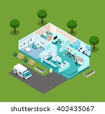 medical center icons isometric... | Shutterstock .eps vector #402435067