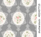 seamless floral pattern with... | Shutterstock .eps vector #402437713