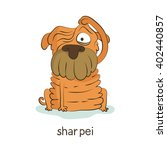shar pei. cute vector cartoon... | Shutterstock .eps vector #402440857