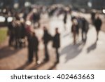 crowded blurred street in... | Shutterstock . vector #402463663