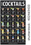set of classic alcoholic... | Shutterstock .eps vector #402465433