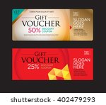 gift voucher and discount... | Shutterstock .eps vector #402479293