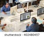 library academic computer... | Shutterstock . vector #402480457