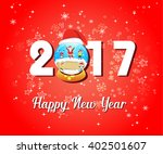 2017 happy new year greetings... | Shutterstock .eps vector #402501607