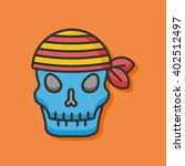 pirate skull vector icon | Shutterstock .eps vector #402512497