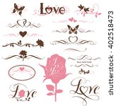set of calligraphic love... | Shutterstock .eps vector #402518473