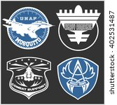air force military emblem set... | Shutterstock .eps vector #402531487