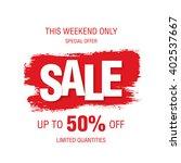 sale banner template design | Shutterstock .eps vector #402537667