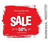 sale banner template design   Shutterstock .eps vector #402537757