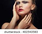 beautiful fashion portrait of... | Shutterstock . vector #402543583