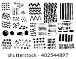 vector set of hand drawn ink... | Shutterstock .eps vector #402544897