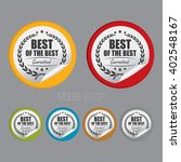 vector   circle best of the... | Shutterstock .eps vector #402548167