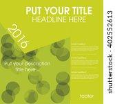 modern vector abstract design... | Shutterstock .eps vector #402552613