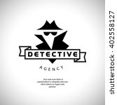 flat detective agency logo... | Shutterstock . vector #402558127