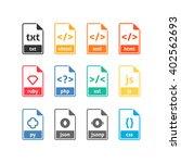 developer file icons | Shutterstock .eps vector #402562693