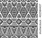 Seamless Ethnic Pattern. Black...