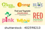 set of colored logos on the... | Shutterstock .eps vector #402598213