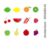 fruits icons | Shutterstock .eps vector #402608143