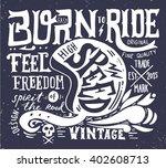 hand drawn grunge vintage... | Shutterstock .eps vector #402608713