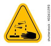 vector corrosive  sign   Shutterstock .eps vector #402611593