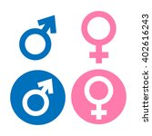 male and female symbol flat... | Shutterstock .eps vector #402616243