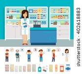 pharmacy infographic elements... | Shutterstock .eps vector #402618883