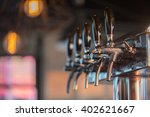 close up of cold beer tap ... | Shutterstock . vector #402621667