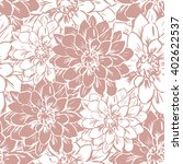 hand draw seamless floral... | Shutterstock .eps vector #402622537