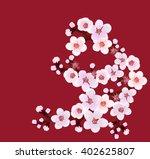 flowering  branch | Shutterstock .eps vector #402625807