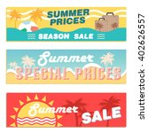 summer sale set | Shutterstock .eps vector #402626557