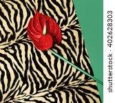 red calla fashion. in trendy... | Shutterstock . vector #402628303