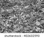 Silver Leaf Foil Background...