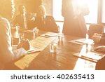business team meeting... | Shutterstock . vector #402635413